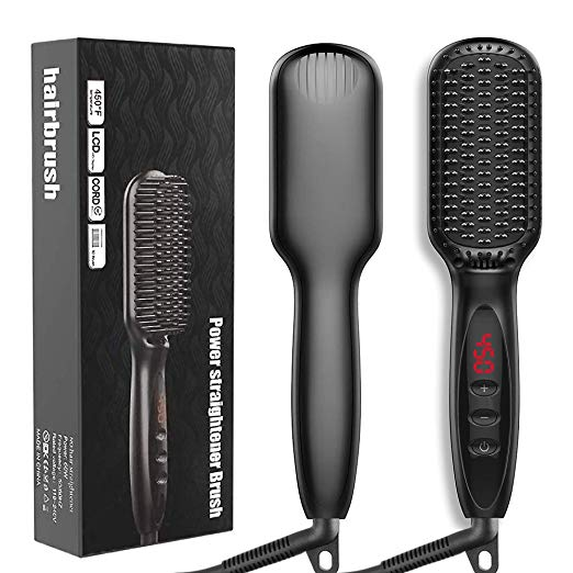 <strong>Hair</strong> <strong>Straightening</strong> Comb Flat iron <strong>hair</strong> straightener For Home &amp; Travel - Dad Gifts