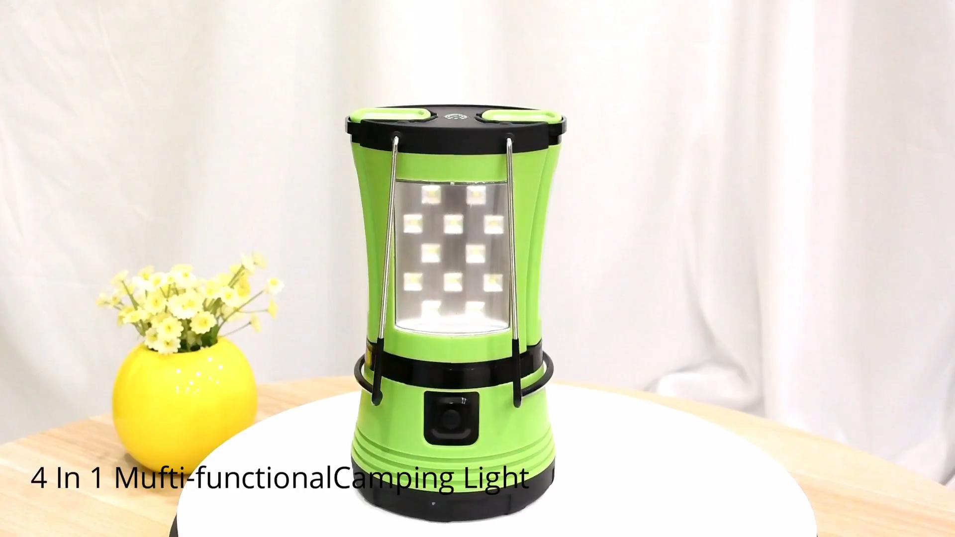 Şarj edilebilir kamp feneri, su geçirmez taşınabilir plastik acil açık şarj edilebilir LED kamp Led lamba fener ışıkları