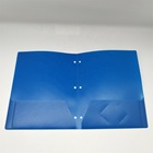 Letter Size Plastic Portfolio,Presentation Folder, 2 Pockets Folder With 3 Punch Holes and card holder