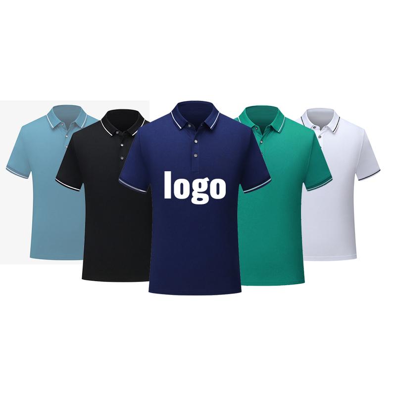 โลโก้ที่กำหนดเองธุรกิจเครื่องแบบเสื้อโปโลธรรมดาเสื้อยืดบุรุษเสื้อโปโลกอล์ฟผู้ชาย