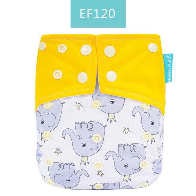 Happy Flute suede cloth inner waterproof snap Cloth Diaper One Size fit All Cloth Diaper