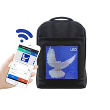 WIFI Version Tragbare LED Rucksack Für Mobile Billboards Licht Walking Werbung Bildschirm