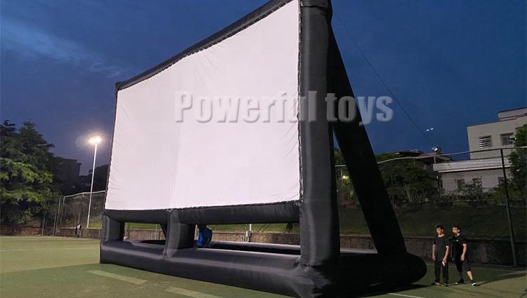 Proyektor Depan Tiup PVC Antiair Luar Ruangan Proyektor Depan Bioskop Layar Teater Film Tiup
