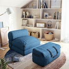 Stylish folding linen sofa bed without beads bean bag