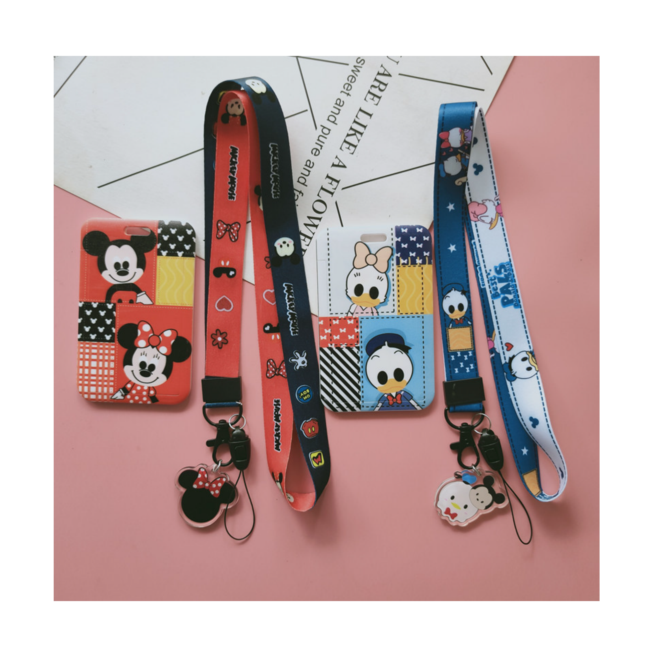 Stitch Cartoon Lanyard Id Badge Holder Key Neck trap Kids Gifts,20 Pieces, Full color printed