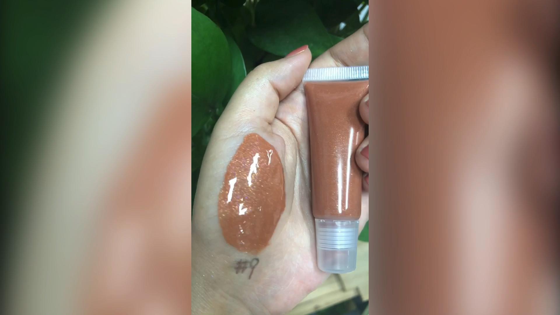 Cosmétiques fournisseurs en gros étiquette privée brillant à lèvres sans logo clair lipgloss