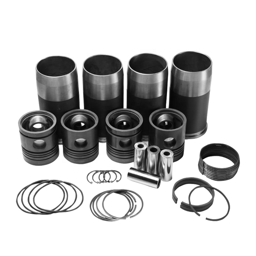Hot sale diesel engine  piston group liner piston set 4  Piston pin+ Cylinder liner Sleeve + Ring for MTZ