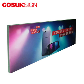 Led Luminous Outdoor Display Slim Portable Fabric Advertising Light Box Sign