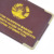Wholesale travel leather passport holder with gold logo