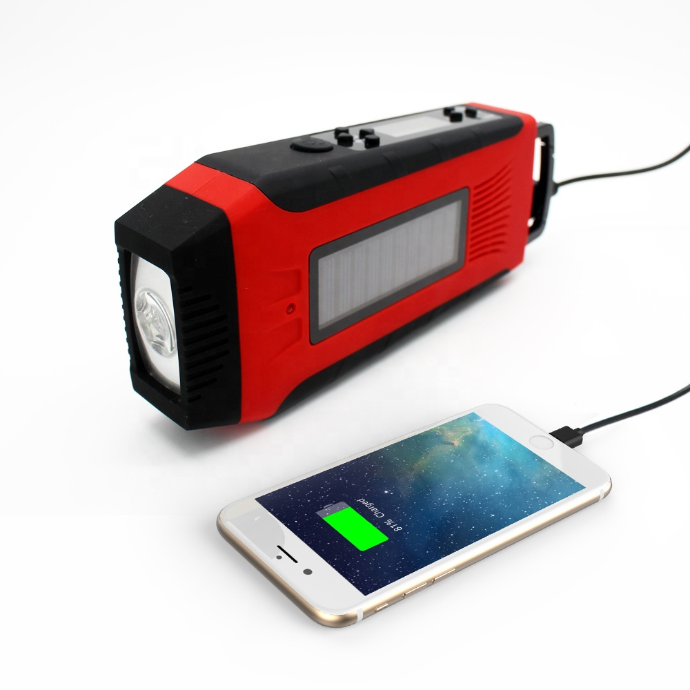 Notfall Handy Lade Led licht dynamo handkurbel fm radio outdoor solar camping werkzeug