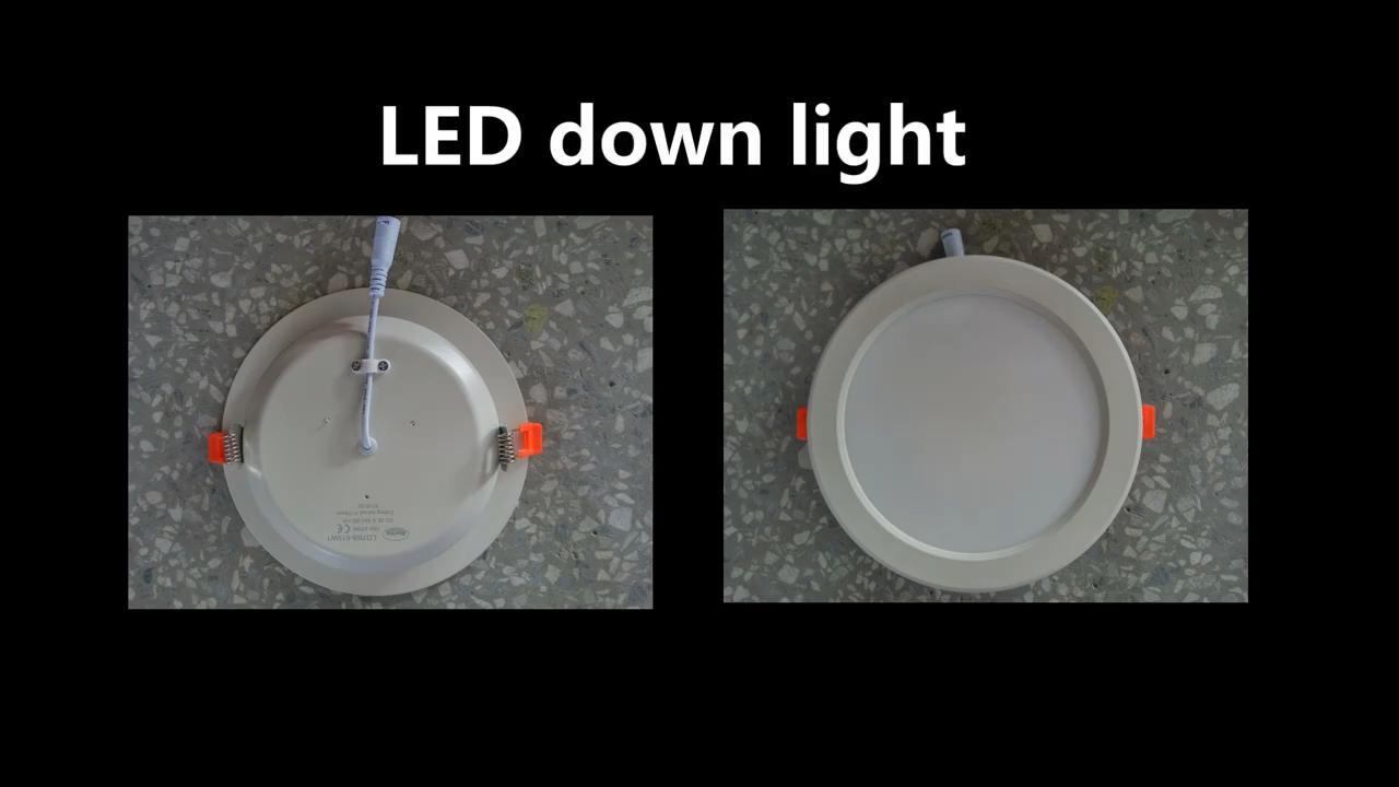 Factory supply  7 watt adjustable downlight led  gu10 recessed ultra slim led down light