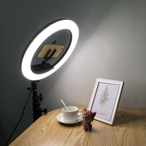 RL-12II Ring Light Photo Studio Camera Makeup Ring Light Phone Video Live Light Lamp with Tripod for Smartphone