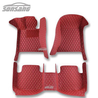 Wholesale Racing Red Luxury Car Floor Mats Full Set Carpet Waterproof Diamond Car Mat