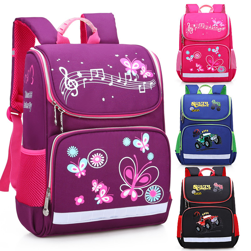 Butterfly Car Printing cute EVA hard shell boys girls school bag Children's backpacks for grade 1 to grade 5 kids