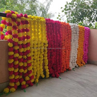 Artificial Decorative Marigold Flower Garland Multi color