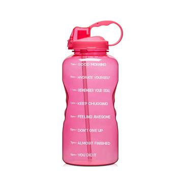 128oz (When Full) Leakproof BPA Free Fitness Sports Water Bottle with Motivational Time Marker & Straw Sports Water Bottles