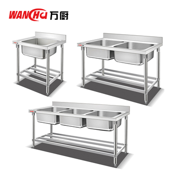 Dubai Kitchen Stainless Steel Sink Table Single Bowl Kitchen Sink With Table For Industrial Projects China Factory View Dubai Kitchen Stainless Steel Sink Table Wanchu Product Details From Guangzhou Wan Chef Metal Products