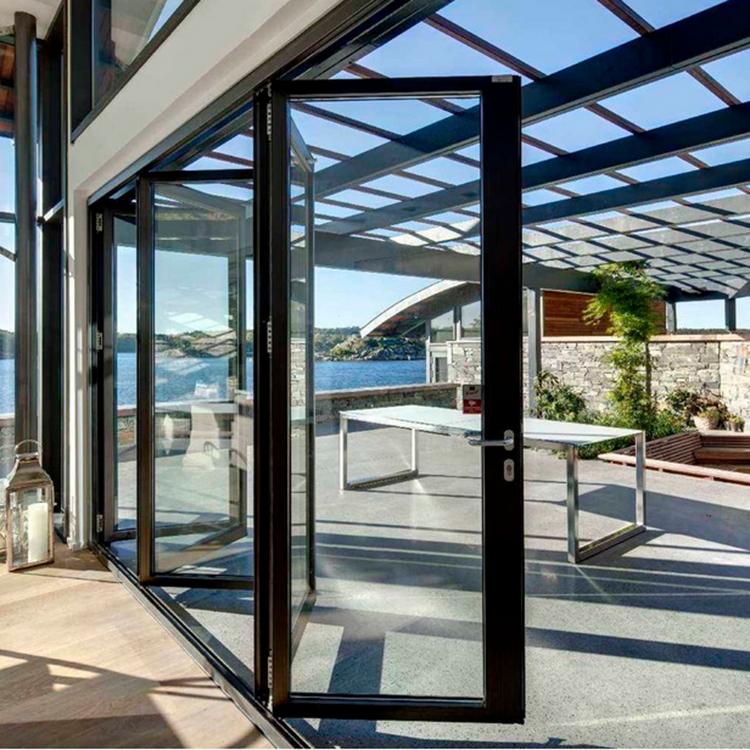 10 Year Warranty China Aluminum Balcony Patio Foldable Glass Folding Door Manufacture