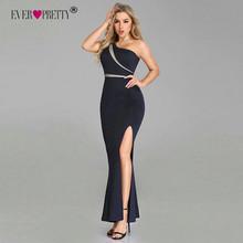 Женское длинное вечернее платье-русалка, длинный дешевый темно-синий вечерний наряд без рукавов, EZ07489, 2018(Китай)
