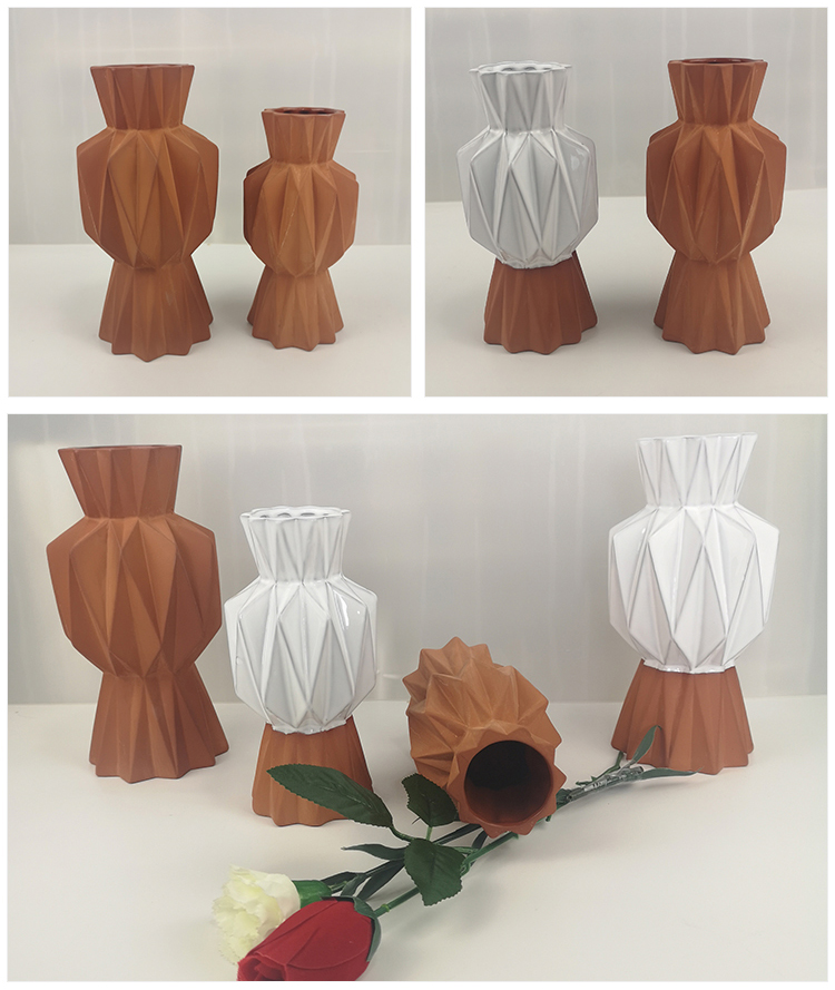 Chinese indoor decoration cheap ceramic flower pots Brown flower_pots_manufacturer