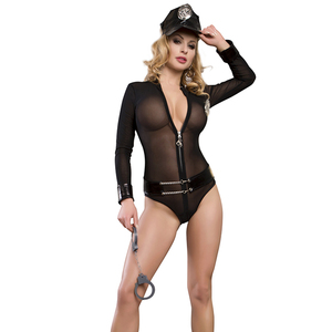 Newest High quality hot sales wholesale woman sexy girl police costume
