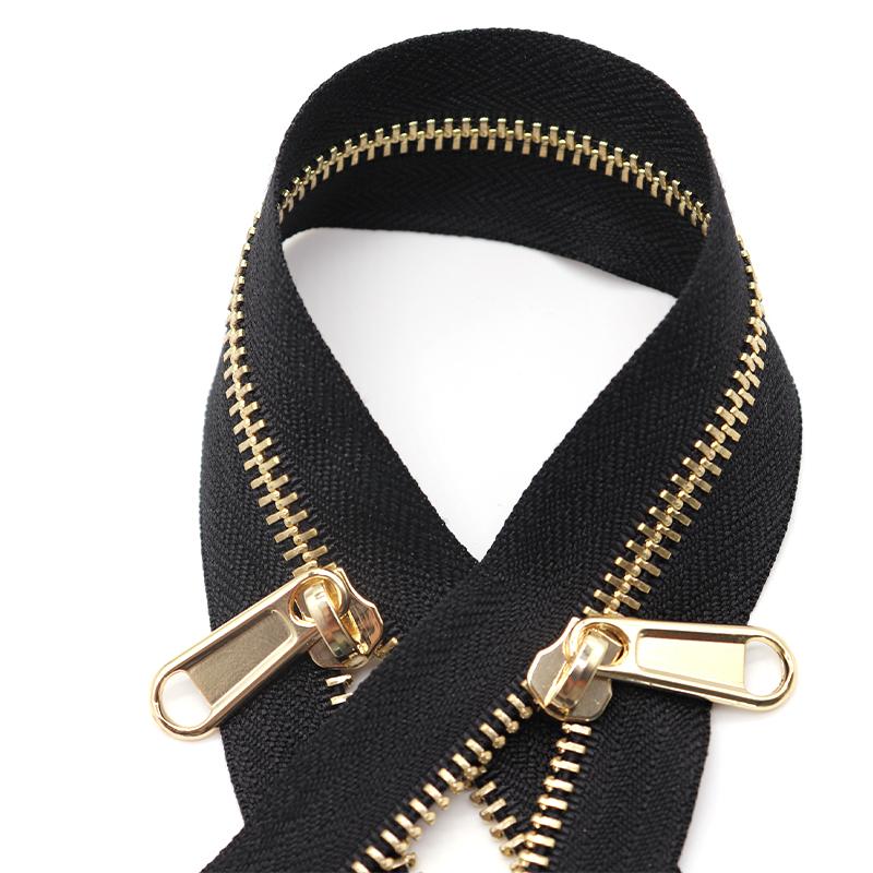 3#5#8#10# light gold Metal zipper Manufacturer Jacket zipper