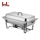 Stainless steel 201 chefing dish rectangle 9L Chafing Dish buffet GN PAN 1/1 buffet warmer tray for hotel serving