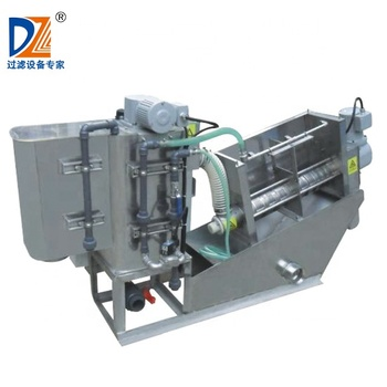 Shanghai Dazhang Automatic Fold Screw filter for municipal municipal Wastewater dewatering
