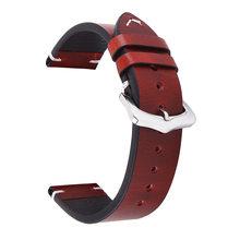 BEAFIRY растительного дубления кожаный ремешок для часов 18 мм 19 мм 20 мм 22 мм перфорированные ремешки для часов для мужчин и женщин ремешок для ч...(China)
