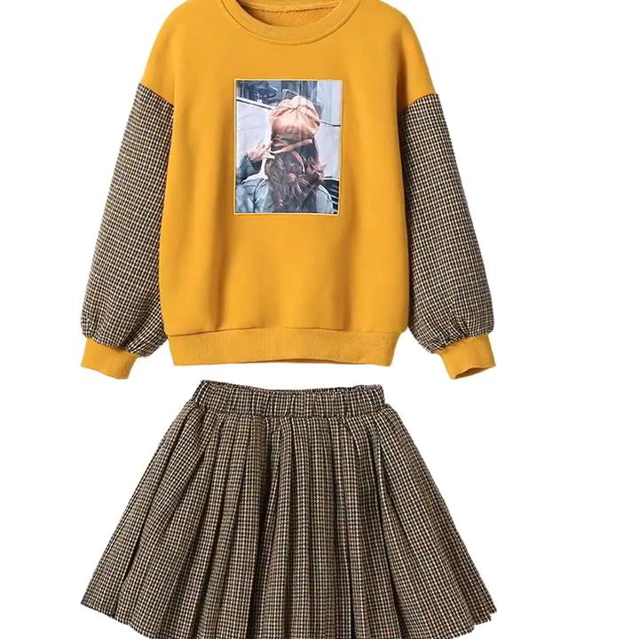 En gros belle automne garder au chaud enfants vêtements filles