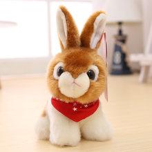 Милая мягкая плюшевая кукла животного Дети Кролик Имитация чучела животные игрушки реалистичные симуляторы Kawaii декор комнаты KK6FZM(Китай)