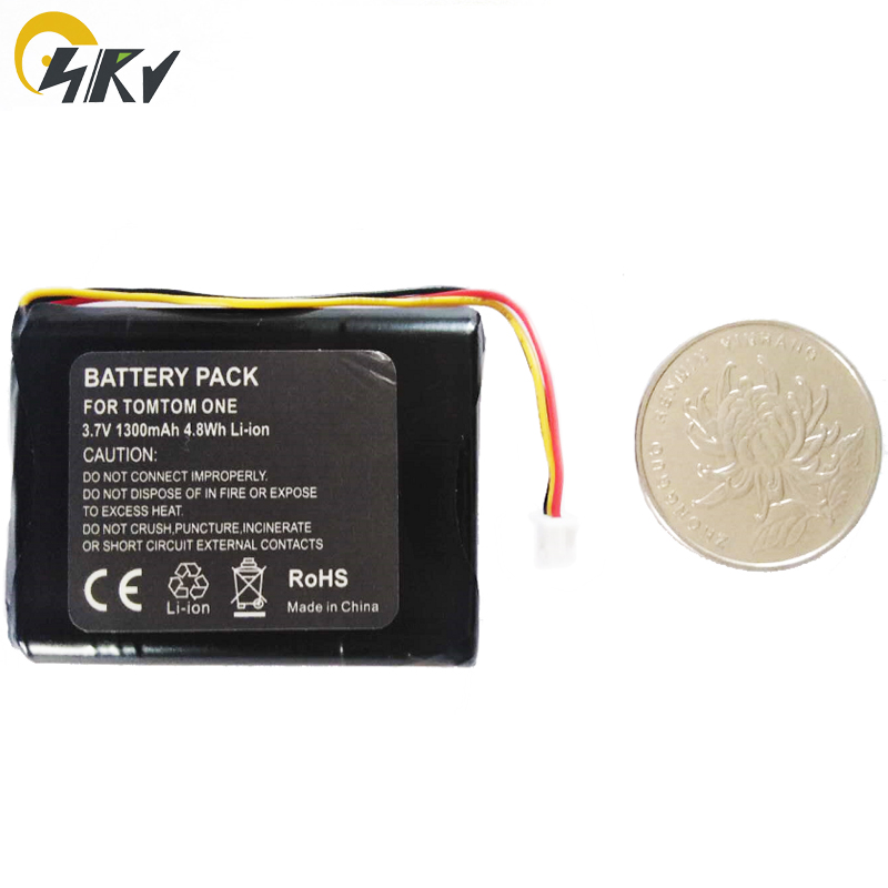 3.7V Li-ion <strong>Battery</strong> 1300mAh for TomTom one <strong>V2</strong> V3 V5 XL Europe Dach TML Rider IQ Routes S4L Rider 2nd 4K00.100