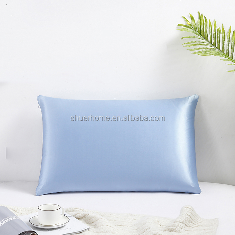 19 MM Pure 100% Mulberry Silk Satin Pillow Case Cover for Hair and Skin Anti-Mites