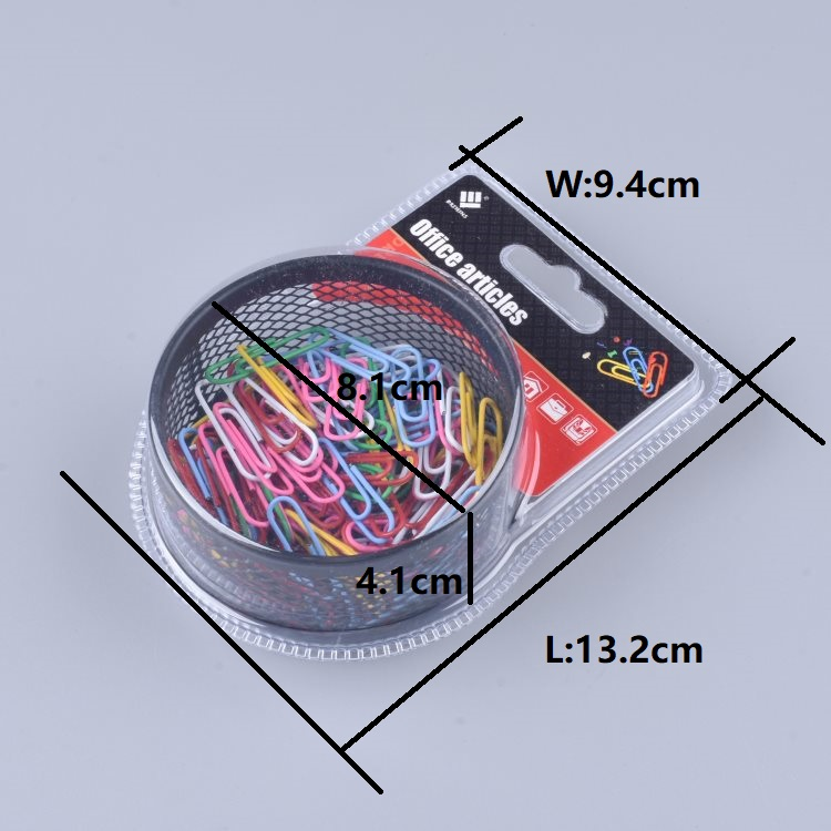Good quality multi plastic coated colorful 100pcs metal paper clips