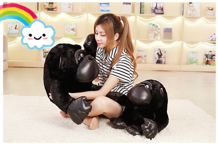 Custom stuffed animal manufacturer company mascot sitting posture gorilla forest animal plush toys