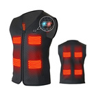 Unisex five heating zones down warming workout o-neck motorcycle rechargeable smart sport heat vest with 5v bettery