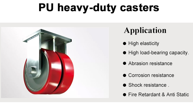 heavy duty Polyurethane PU Casting caster wheels for materials handling equipment