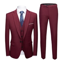 Best selling slim fit 3 piece suits set for man