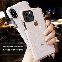 Diamond Shockproof Luxury Jelly Phone Cases For iPhone 11 Pro Max Transparent Soft Clear Back Cover For iPhone 11 Shell case