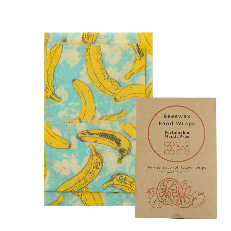 2019 Hot Selling Non-toxic Waterproof Reusable Organic Beeswax Food Wraps