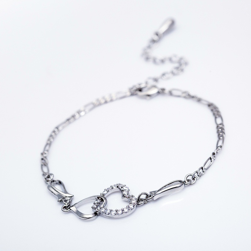 Wholesale High Quality Gold Stainless Steel Heart Shape Anklet For Girls