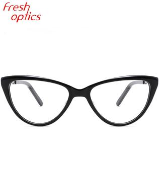 2019 handmade cat eye spectacles clear acetate optical glasses eyewear frames for women