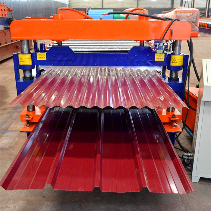 Corrugated iron sheet roofing tile making machine color steel sheet roll forming machine