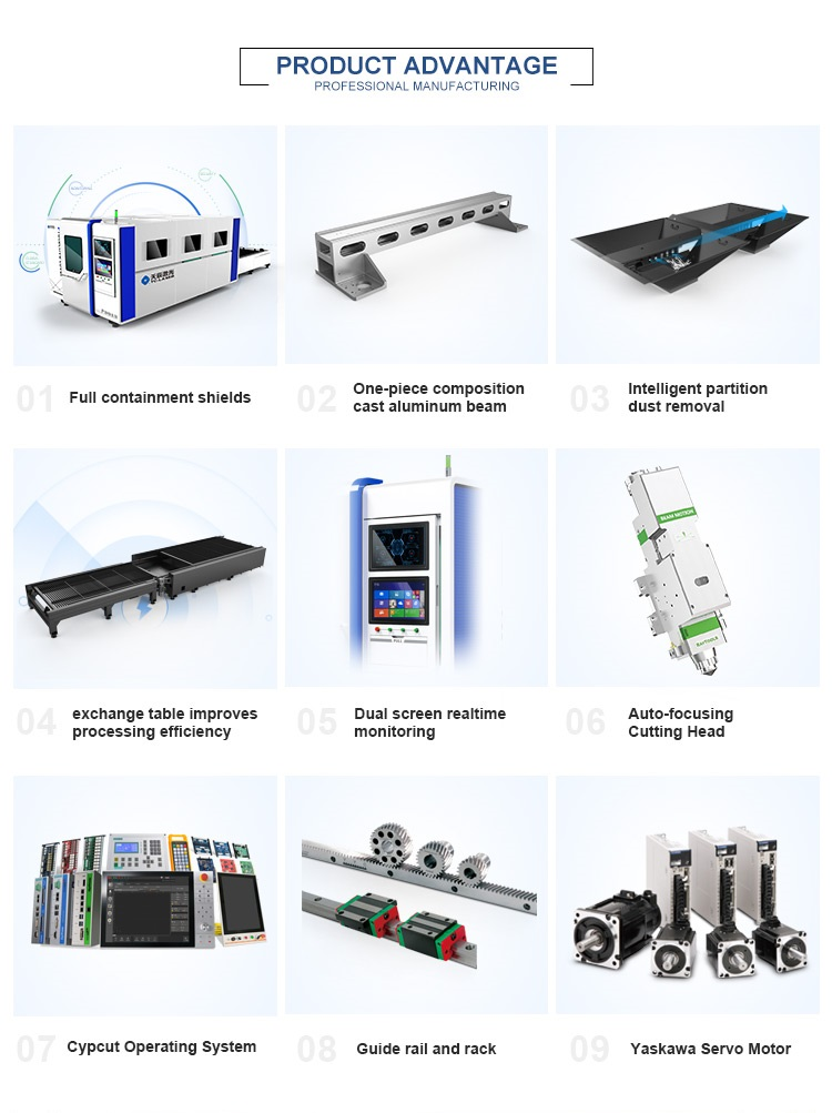 Hot sale stainless steel enclosed fiber laser metal cutting machine for sheet metal