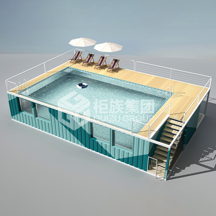 China custom 40ft storage container swimming pool 20ft container pool swimming waterproof container for swimming