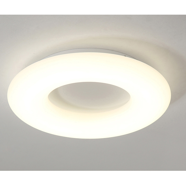 Round dimmable steel PE diffuser wide light emitting LED ceiling chandelier for hotel home ceiling light