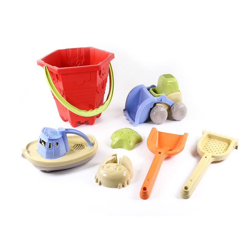 New Style big net bag package <strong>outdoor</strong> <strong>kids</strong> summer <strong>toy</strong> 7pcs beach <strong>toys</strong> bucket set