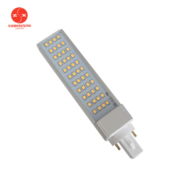 high power plc 2pin 4pin g24, 9w led pl 2g11 light
