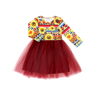 Newest patterns sunflower dresses for kids infant toddlers clothing dresses little girls tutu dress manufacturers in china yiwu