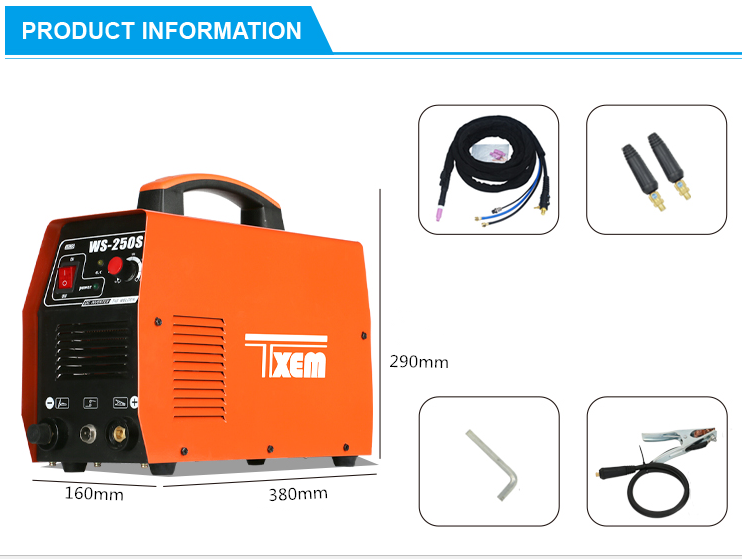 WS-250S tig mma welding machine 250 amp